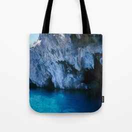 NATURE'S WONDER #5 - BLUE GROTTO (Turkey) #2 #art #society6 Tote Bag