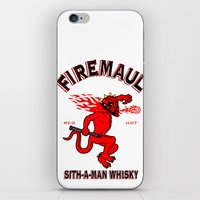 whisky iPhone & iPod Skins featuring Firemaul Whisky by Ant Atomic