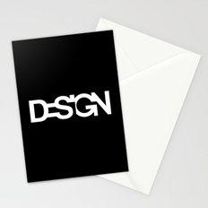The black design Stationery Cards