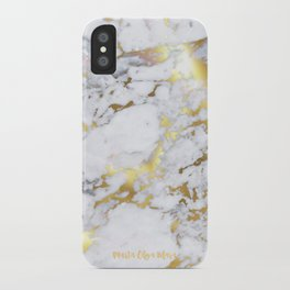 Original Gold Marble iPhone Case
