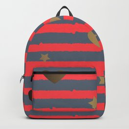 Stripes and hearts Backpack