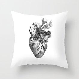Mermaid Heart Throw Pillow