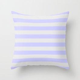 Lavender & Gray Stripes Throw Pillow