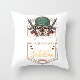 Welcome Home Soldier Now Kiss Me! Military Return Throw Pillow