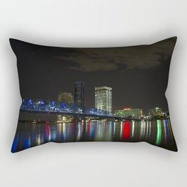 Jacksonville at Night Rectangular Pillow