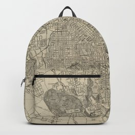 Vintage Map of Baltimore MD (1919) Backpack