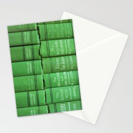 Antique Green Spines Stationery Cards