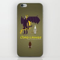 aragorn iPhone & iPod Skins featuring Pixel Art Lord Of The Rings by LoweakGraph