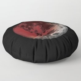 Red Moon Eclipse Floor Pillow