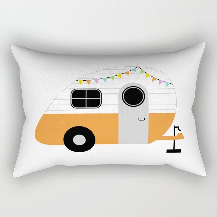Wanderlust Wheels Rectangular Pillow
