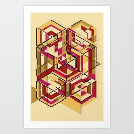 Hexagon No.2 Art Print