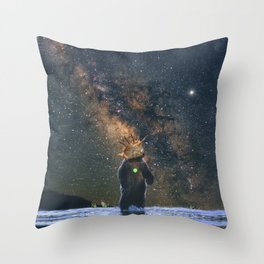 Space /Bear /Milkyway Throw Pillow