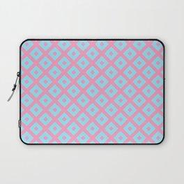 Geometric blush pink teal abstract argyle diamond pattern Laptop Sleeve