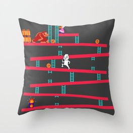 Donkey Kong Revamped Throw Pillow