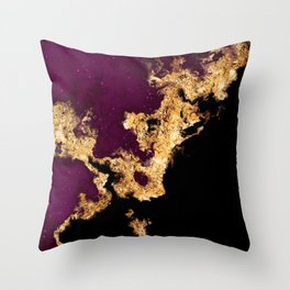 100 Starry Nebulas in Space 021 (Portrait) Throw Pillow