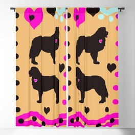 My BERNESE MOUNTAIN DOG Heart Belongs To You Blackout Curtain