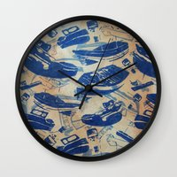 boats Wall Clocks featuring Boats by Heather Fraser