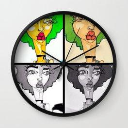 Quadruple Threat Wall Clock