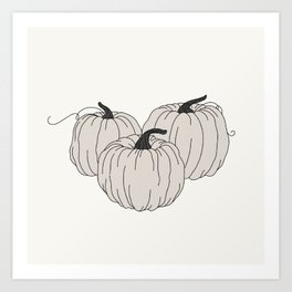 Lumina Pumpkins Art Print