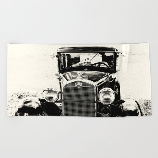 Model A Ford Beach Towel
