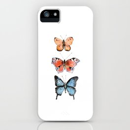 Watercolor Butterflies iPhone Case