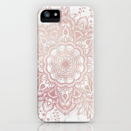 Queen Starring of Mandala-White Marble iPhone Case