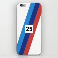 racing iPhone & iPod Skins featuring RACING COLOURS- BMW RACING by MATT WARING