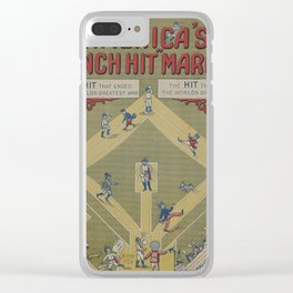 Vintage WWI Baseball Game Cartoon (1919) Clear iPhone Case