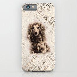 Longhaired Dachshund dog iPhone Case