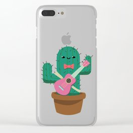 The friendly prickly cactus Clear iPhone Case