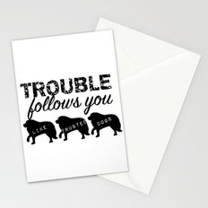 Trouble Stationery Cards