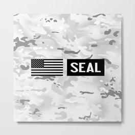 Seal (Arctic Camo) Metal Print