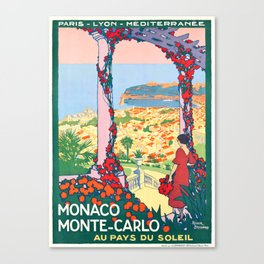 1920 Monaco Monte Carlo In The Land Of Sun Poster Canvas Print