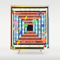 tennis Shower Curtains featuring Tennis by Kamolsky