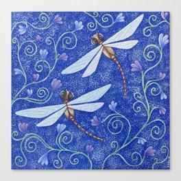 Pretty Dragonflies Canvas Print