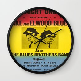 The Blues Brothers Classic Retro Movie Poster , Cult Posters in Different Sizes Wall Clock