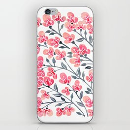 Cherry Blossoms – Pink & Black Palette iPhone Skin