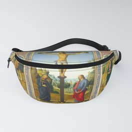 Pietro Perugino - The Crucifixion with the Virgin, Saint John, Saint Jerome, and Saint Mary Magdalen Fanny Pack