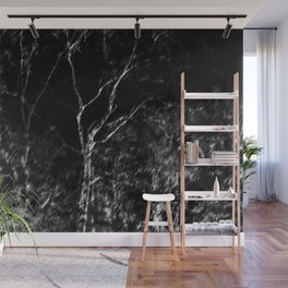 Black and white tree photography - Watercolor series #6 Wall Mural