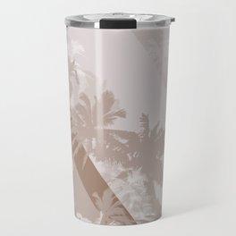 Palm Design - Beige and Brown Travel Mug