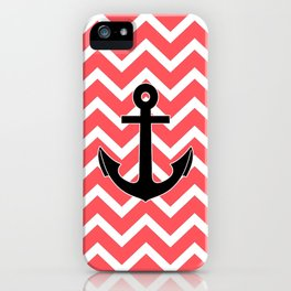 Infra Red Chevron Pattern Anchor Design iPhone Case