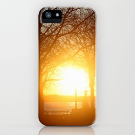 Sunset on the Hudson River iPhone Case