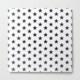Superstars Black on White Medium Metal Print