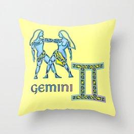 Gemini Knot Throw Pillow