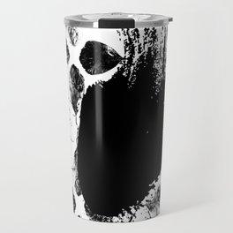 Black and white leaves Travel Mug