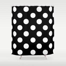 Polka Dots (White/Black) Shower Curtain