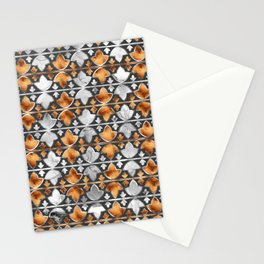 Abstract Leaves Pattern Stationery Cards