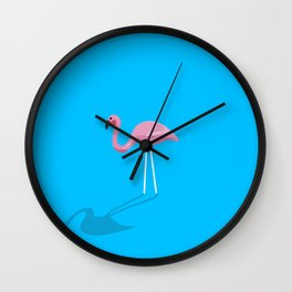 Mr. Flamingo Wall Clock