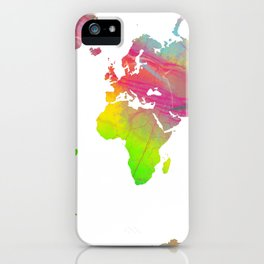 World Map - Watercolor 9 iPhone Case
