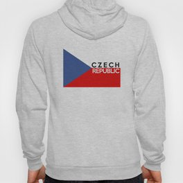 Czech Republic country flag name text Hoody